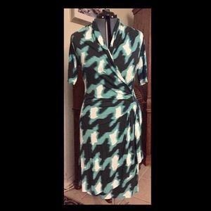 Karen Kane Faux Wrap Dress XL